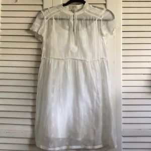 Joie Eyelet Babydoll dress in white